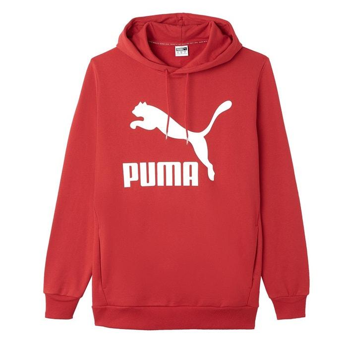 acddddec7b7a3 Sweat à capuche imprimé devant arch classic rouge Puma | La Redoute