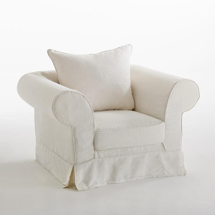 afbeelding Zetel in gekreukt linnen, superieur comfort, Adelia La Redoute Interieurs