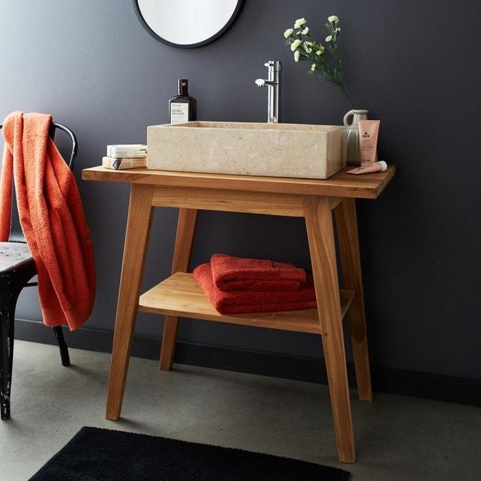 meuble de salle de bain en bois de teck 80 couleur unique bois dessus bois dessous la redoute. Black Bedroom Furniture Sets. Home Design Ideas