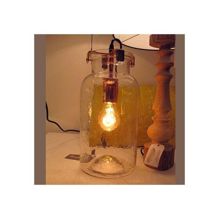 lampe de salon poser en bocal verre confiture transparent millumine la redoute. Black Bedroom Furniture Sets. Home Design Ideas