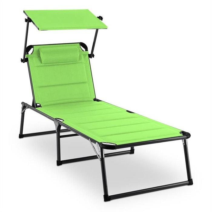 blumfeldt amalfi juicy lime chaise longue 70x37x200cm pare soleil vert vert blumfeldt la redoute. Black Bedroom Furniture Sets. Home Design Ideas