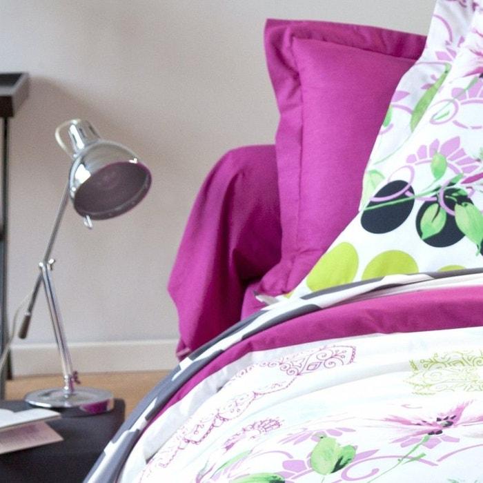 Drap housse mandala coton fushia tradition des vosges la - Drap housse grande taille ...