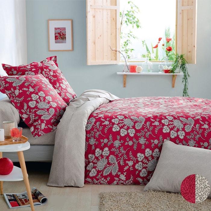 housse de couette chlo en lyocell rouge rouge origin la redoute. Black Bedroom Furniture Sets. Home Design Ideas