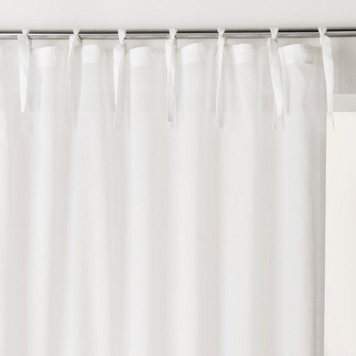 Single Cotton Voile Panel with Tie Top  SCENARIO image 0