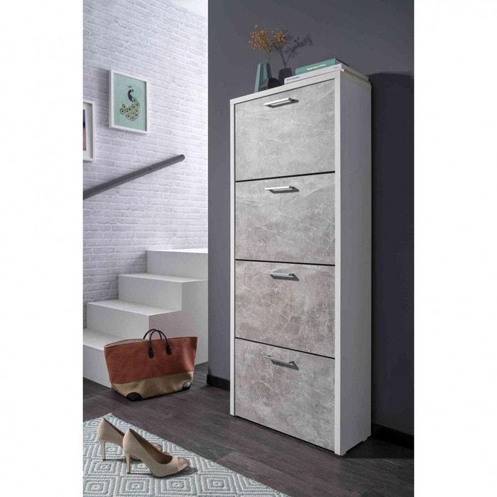 meuble chaussures en bois gris mc7071 gris terre de. Black Bedroom Furniture Sets. Home Design Ideas