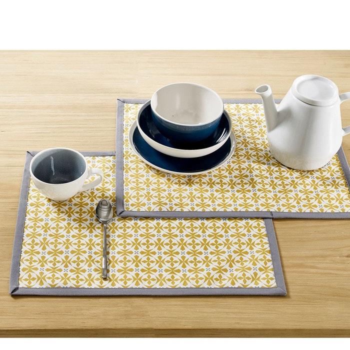 Sets de table, Azilia, coloris jaune (lot de 2)