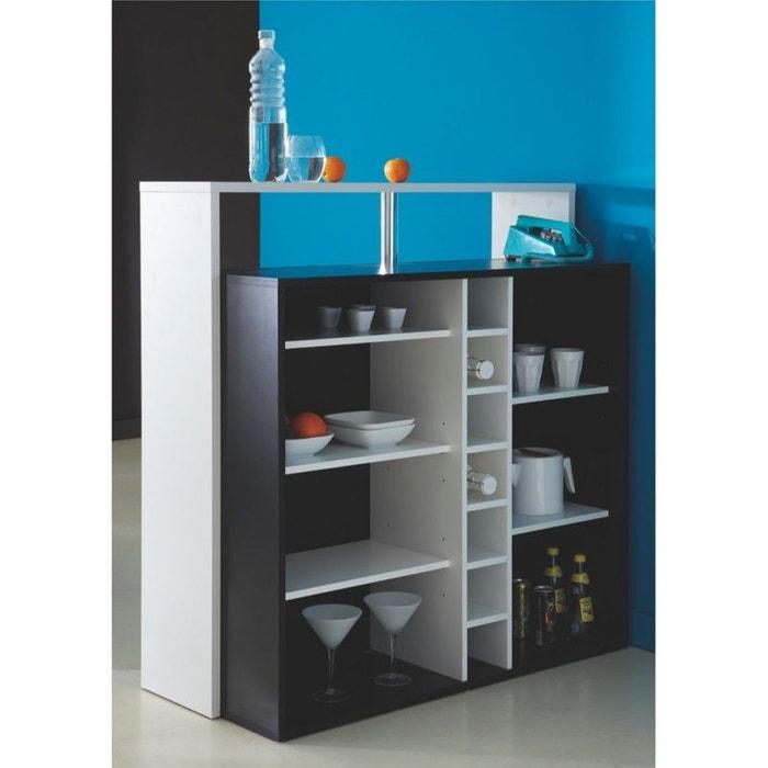 Meuble bar 7 niches billy noir blanc drawer la redoute for Avis client meubles concept