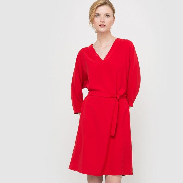 robe esprit kimono rouge la redoute collections en solde la redoute. Black Bedroom Furniture Sets. Home Design Ideas