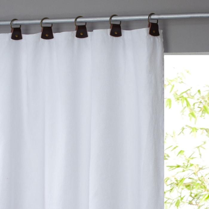 rideau lin lav doubl passants cuir private am pm la redoute. Black Bedroom Furniture Sets. Home Design Ideas