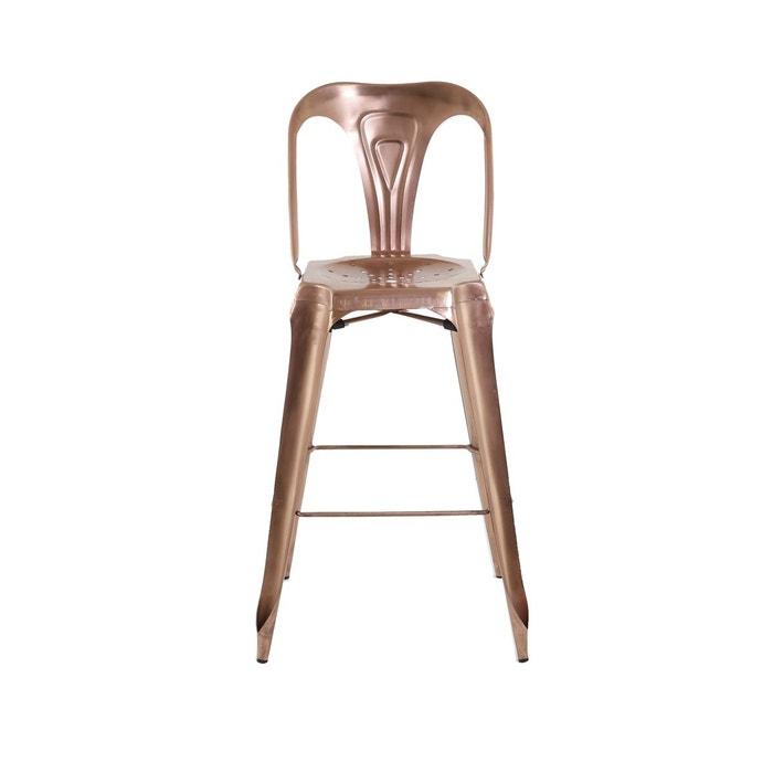 lot de 2 chaises de bar blanches indus inwood la redoute. Black Bedroom Furniture Sets. Home Design Ideas