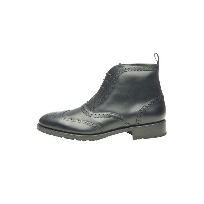 Boots richelieu en noir noir Shoepassion