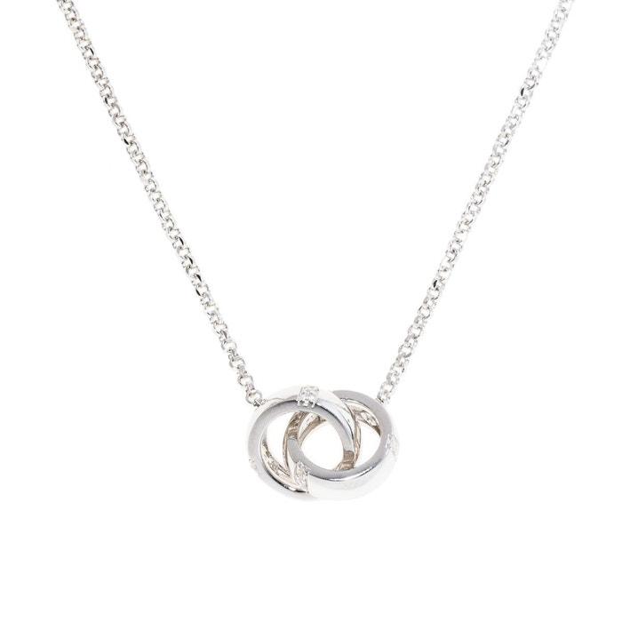 collier argent anneaux