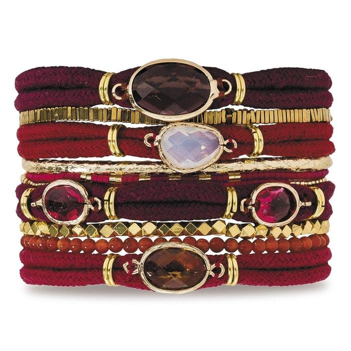 À Vendre Acheter Plus Bas Prix Pas Cher Bracelet femme rouge garnet rouge Hipanema | La Redoute Achat De Dédouanement abordable 15diunNK