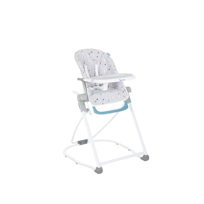 Kinderstoel Baby 0 Maanden.Compacte Hoge Kinderstoel B01070 Grijs Badabulle La Redoute