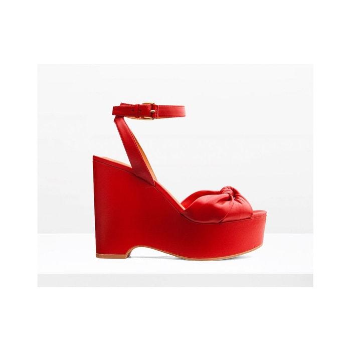 Sandales en cuir - wavy  rouge What For  La Redoute