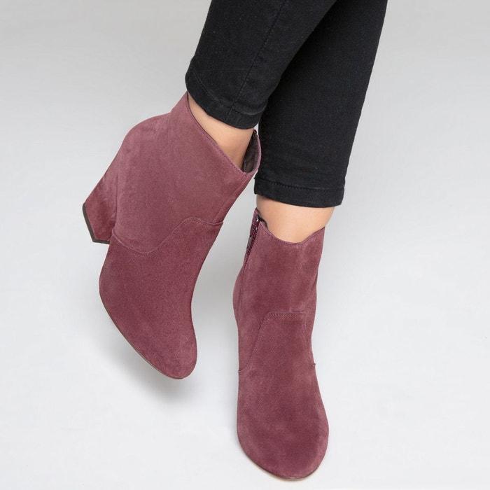 Boots cuir western talon haut La Redoute Collections