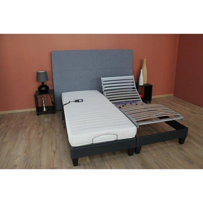 ensemble de relaxation matelas couchage latex gris. Black Bedroom Furniture Sets. Home Design Ideas
