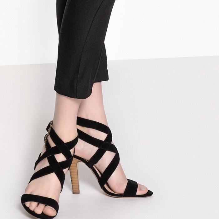 les sandales de cuir stiletto, noir, r mademoiselle r noir, 483ef3