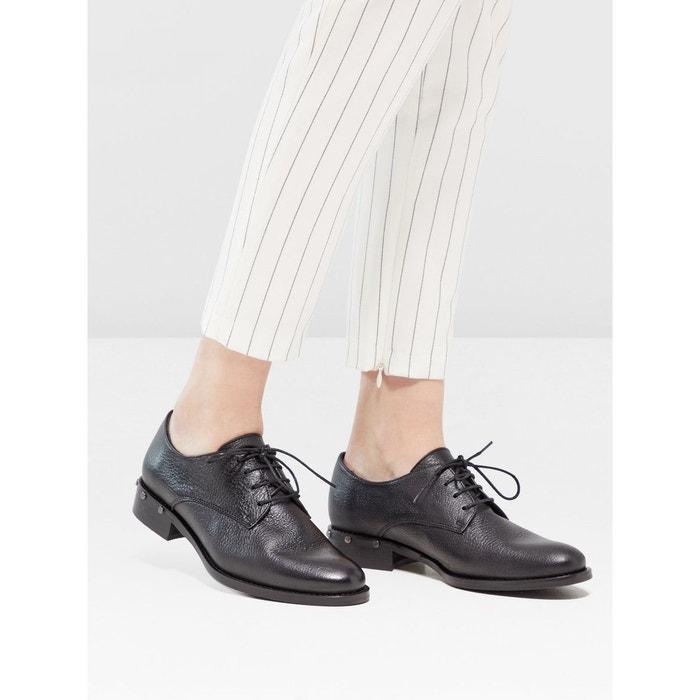 Chaussures derby chaussures à clous black Bianco