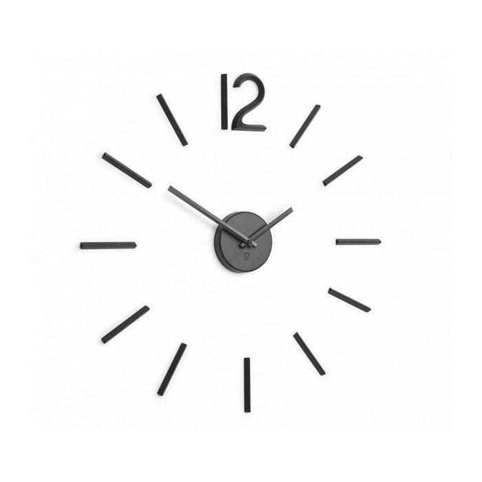 Horloge Murale Design Noir Taille Personnalisable Noir Umbra La