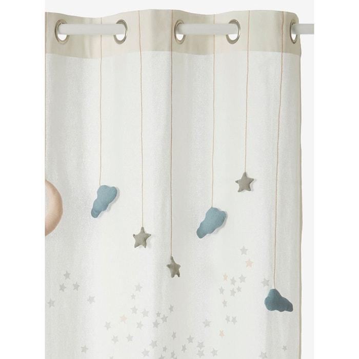 Rideau tamisant comme une étoile blanc imprimé Vertbaudet   La Redoute be77f09d61f7