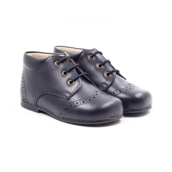 Boni william - chaussure bébé montante bleu marine Boni Classic Shoes   La  Redoute 52602de92fa6