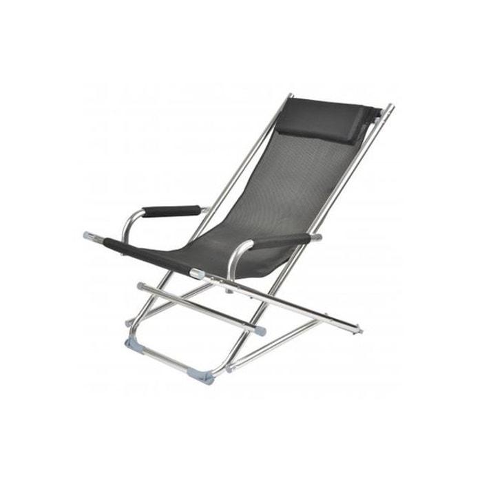 Chaise longue la chaise longue noire ajania noir la chaise - La redoute chaise longue ...