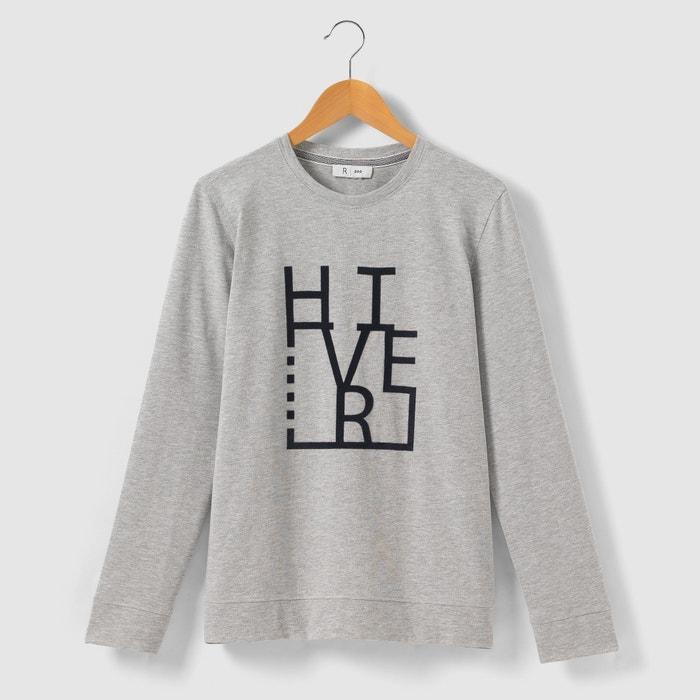 """Image T-shirt floqué """"hiver"""" manches longues 10-16 ans La Redoute Collections"""