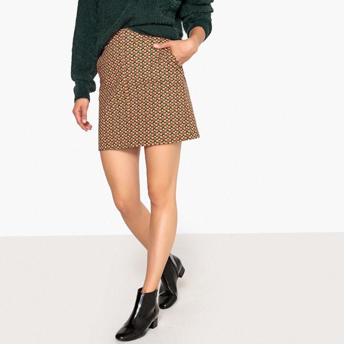Retro Print A-Line Skirt  La Redoute Collections image 0