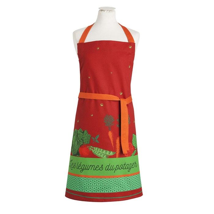 Tablier imprimé en coton, Légumes du Potager, Made in France  COUCKE image 0
