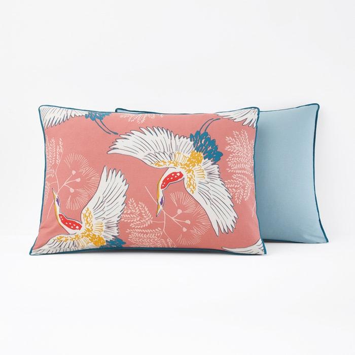 Grues Percale Printed Single Pillowcase  La Redoute Interieurs image 0