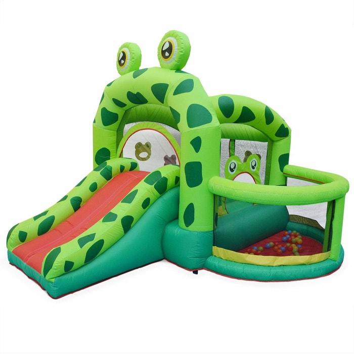 Structure gonflable Kermit 3,2m - toboggan gonflable, piscine à boules, aire de jeu pour enfants ALICE S GARDEN