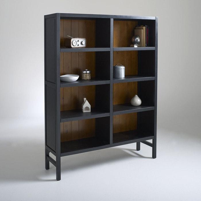 biblioth que 8 niches hiba noir la redoute interieurs la redoute. Black Bedroom Furniture Sets. Home Design Ideas