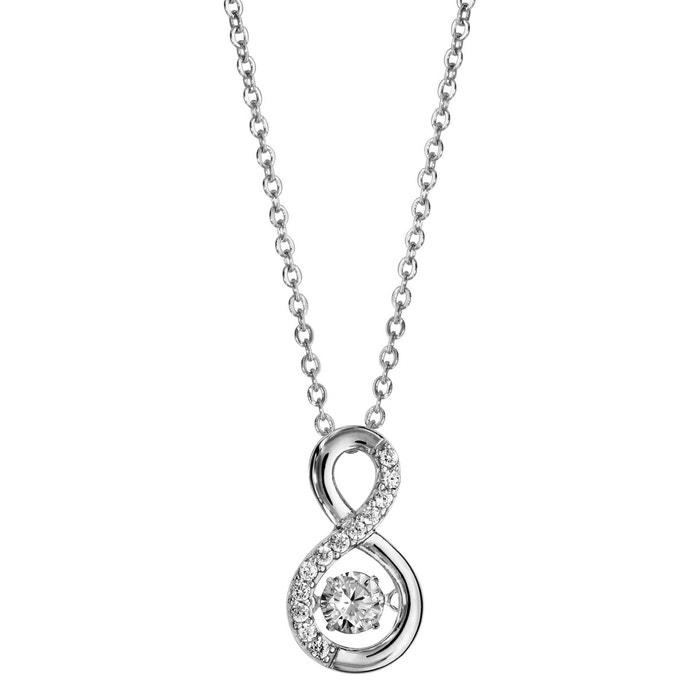 42df414b6bf Collier réglable  42 à 45 cm pendentif symbole infini argent 925 argenté So  Chic Bijoux