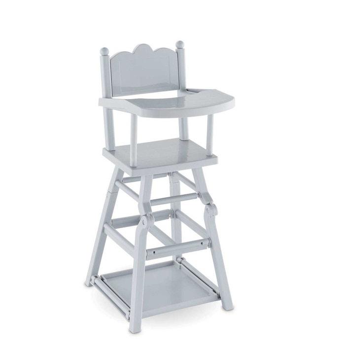 chaise haute pour poupon 36cm et 42cm corfrv07 gris corolle la redoute. Black Bedroom Furniture Sets. Home Design Ideas