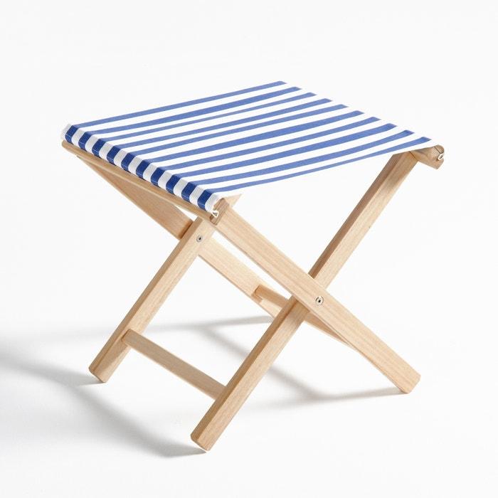 Dovil striped folding stool la redoute interieurs la redoute - Tables basses la redoute ...