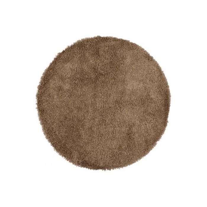 Tapis rond marron 160x160x3 cm sekai textile declikdeco la redoute - Tapis rond la redoute ...