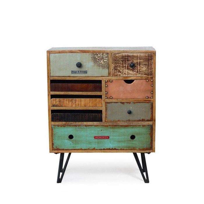 Commode vintage à tiroirs en bois fusion bois/métal Drawer | La Redoute