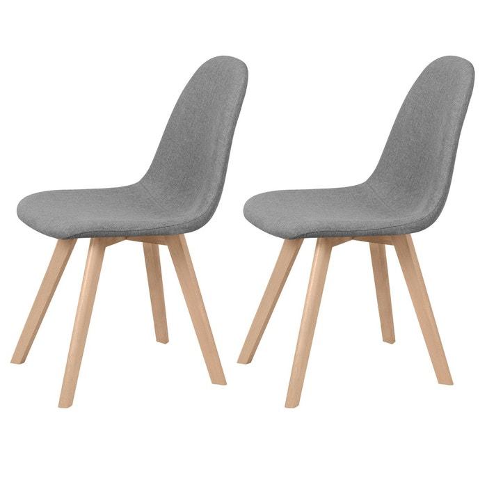 chaise skandi tissu grise lot de 2 gris rendez vous deco la redoute. Black Bedroom Furniture Sets. Home Design Ideas