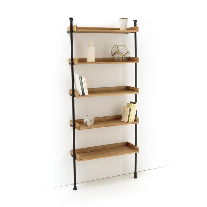 etag re murale m tal et bois mosaique la redoute. Black Bedroom Furniture Sets. Home Design Ideas
