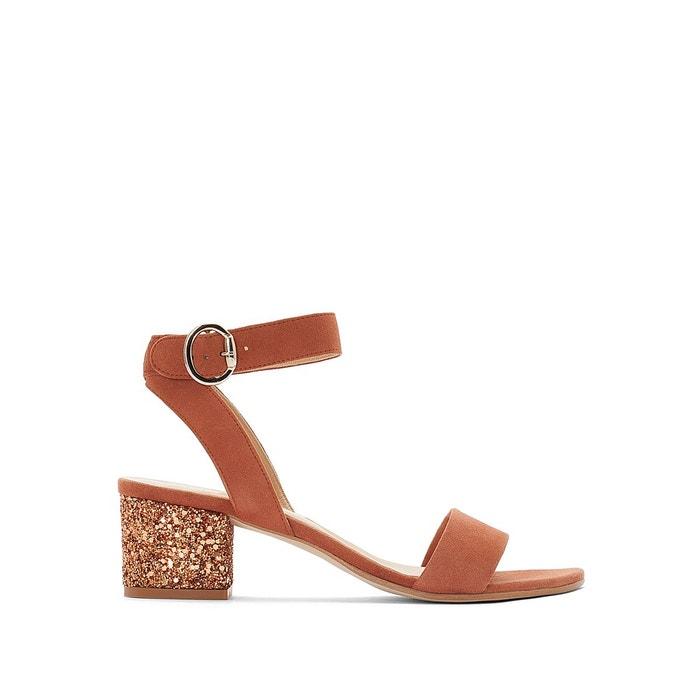 Sandales cuir à talons carrés vivace   marron Jonak   La Redoute