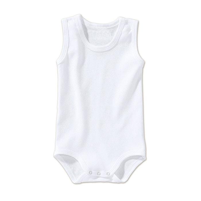 Bornino le body sans manches bébé blanc Bornino  3fe1dcc40c5