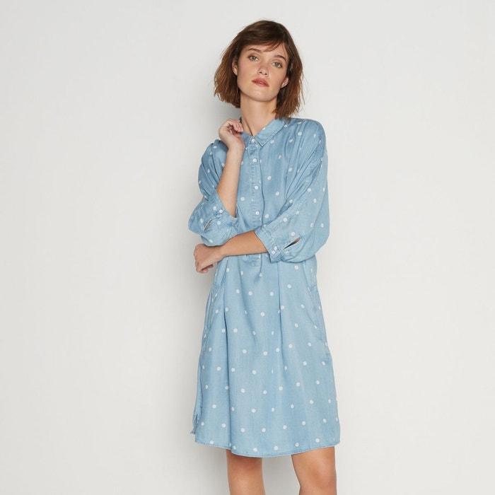 ebcf607e3c613 Robe à pois bleu Monoprix   La Redoute