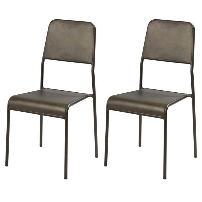 Chaise exon en métal lot de 2 rendez vous deco 1