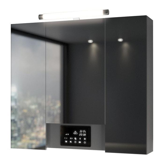 Armoire de toilette avec led opty 3 portes 80 x 77 5 - Armoire de toilette 3 portes miroir eclairage allibert ...
