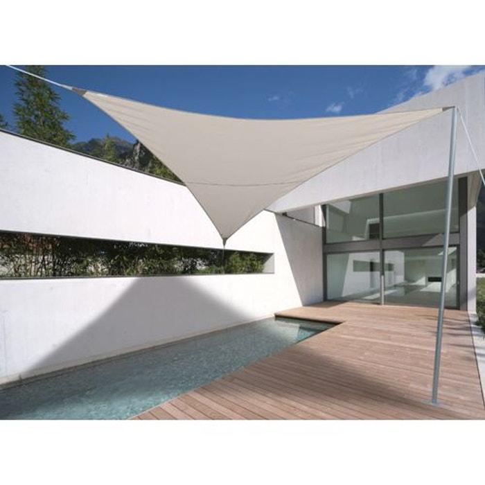 voile d 39 ombrage triangulaire 5 x 5 x 5 m luxe sable couleur unique jardideco la redoute. Black Bedroom Furniture Sets. Home Design Ideas