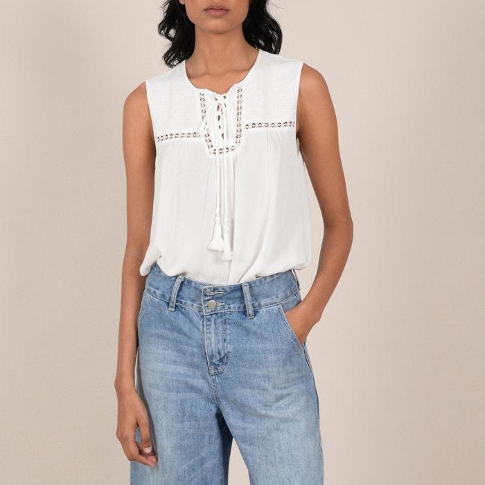denim blouse zonder mouwen
