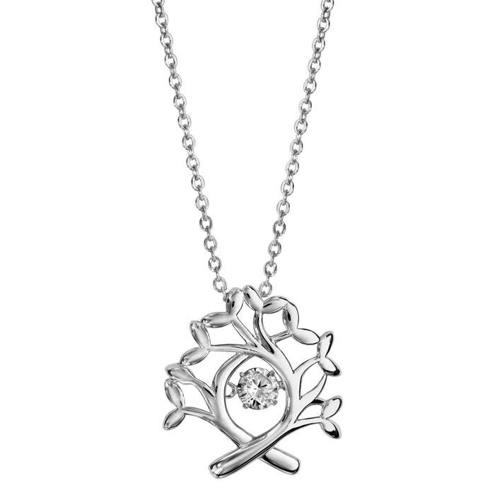 ff960c8f39160 cheap collier longueur rglable cm pendentif arbre de vie oxyde de zirconium  blanc with bijoux arbre de vie