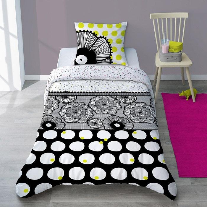 parure housse de couette dentelle graphique dentelle noir selene et gaia la redoute. Black Bedroom Furniture Sets. Home Design Ideas