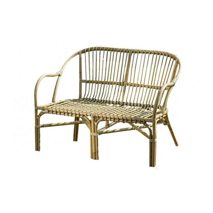 banc en rotin longueur 110cm marron wadiga la redoute. Black Bedroom Furniture Sets. Home Design Ideas